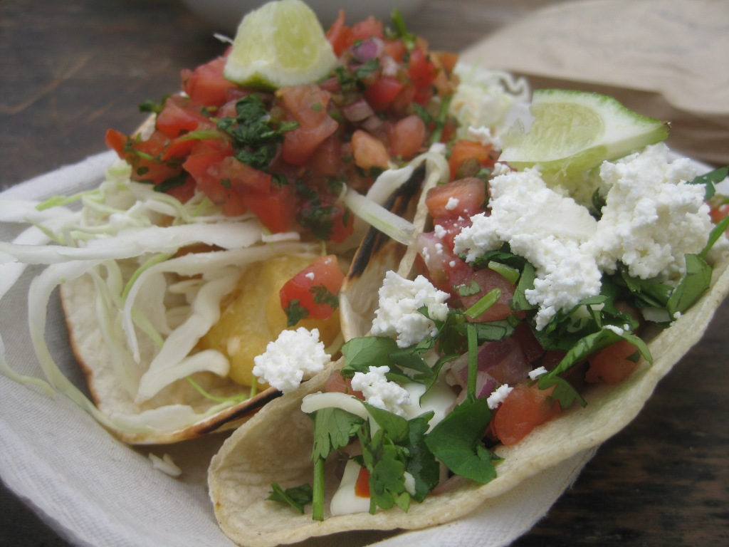 Cod and Bean tacos @ Tacofino