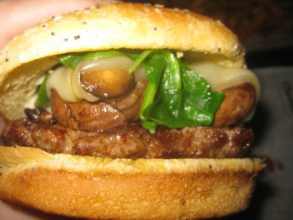 Cheese Curds - Spinach & Mushroom Burger
