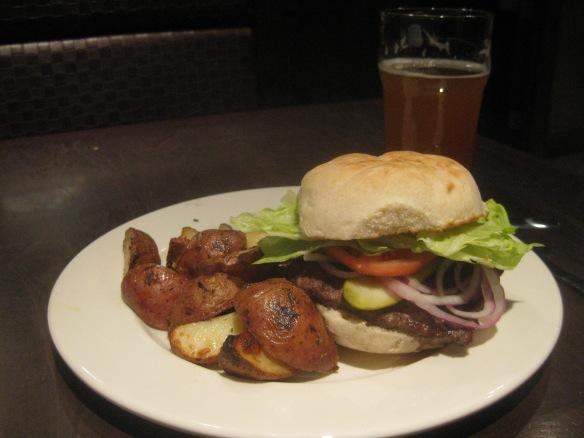 Rock Bottom Brewery - a standard hamburger.