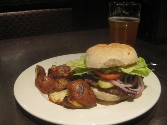 Rock Bottom Brewery - a standard hamburger.