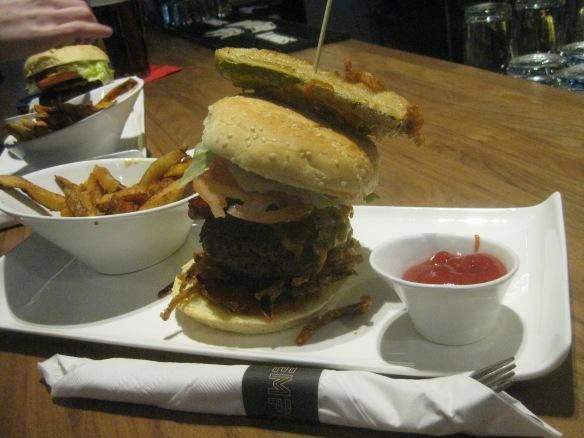 The burger at Tempo