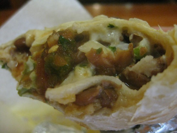 Veggie burrito from Taqueria Cancun.