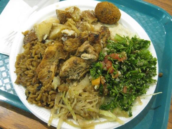 BBQ Chicken combo platter at Ray's Falafel